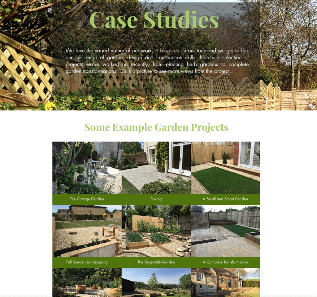 ls — Dorset Web Design Case Studies