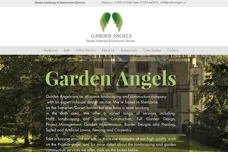 Sherborne Garden Angels Web Design Dorset