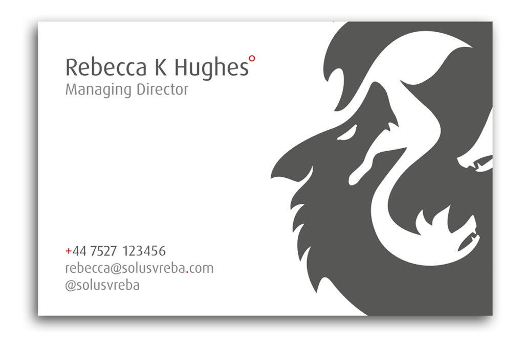 Solusvreba Business Card Design Sherborne Reverse