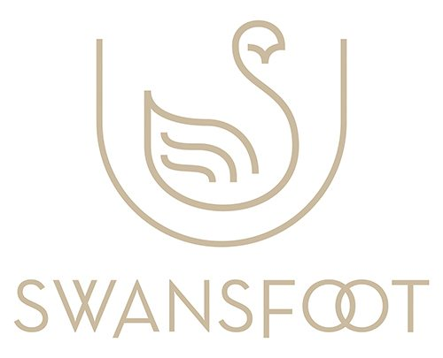 Swansfoot Stacked Logo Design by Digiwool Web Design
