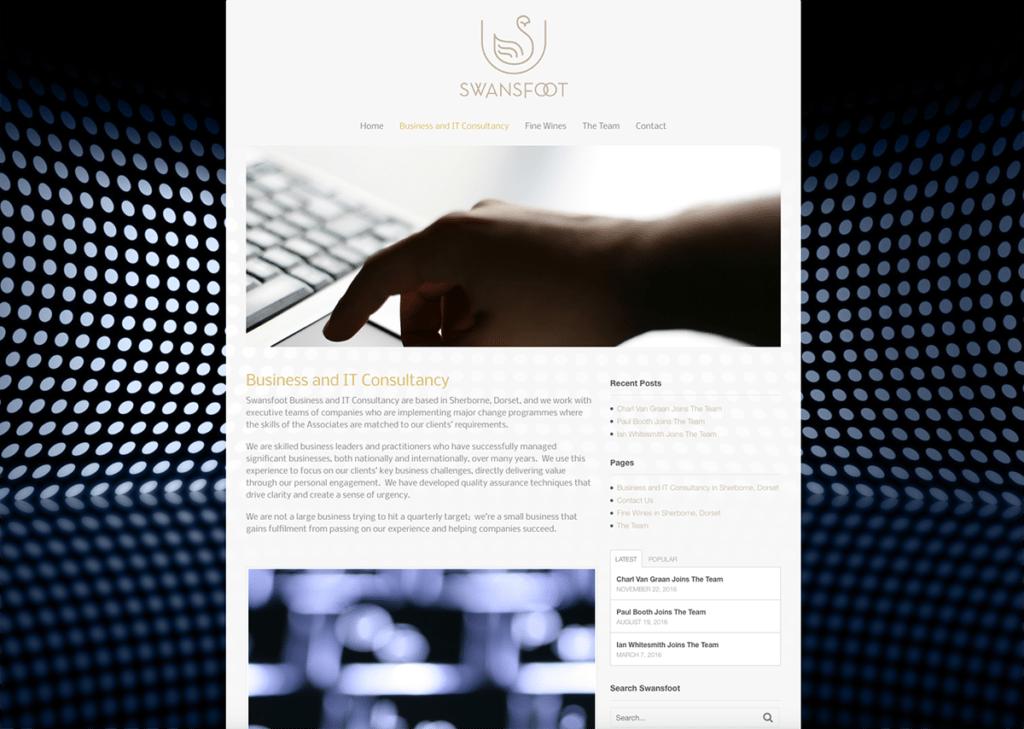 Swansfoot Business & IT Consultancy Website Design by Digiwool