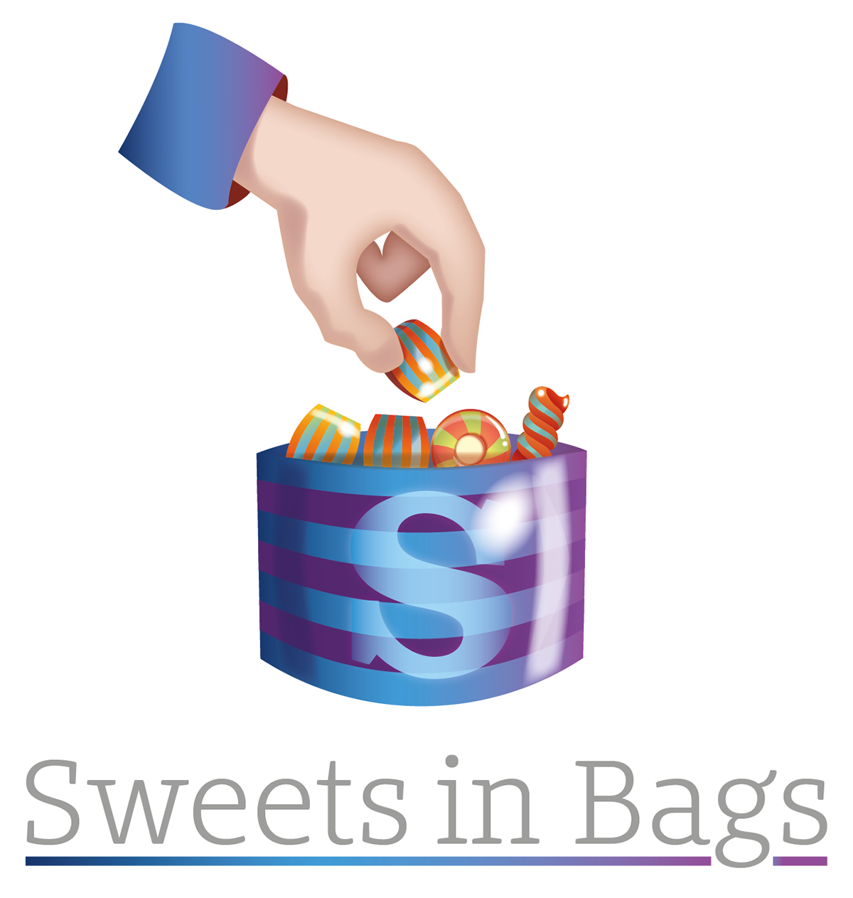 Sweets In Bags Logo Design Sherborne