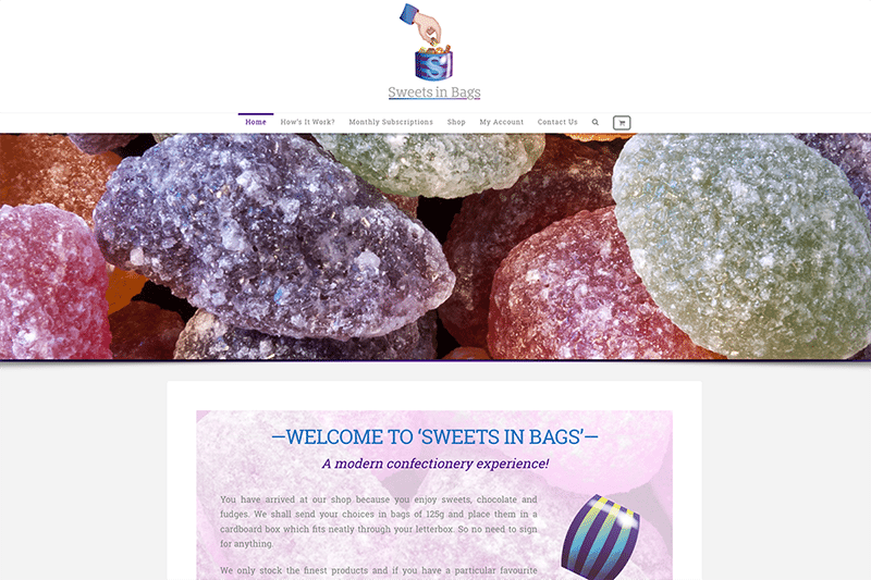 Sweets In Bags — eCommerce Web Design Dorset