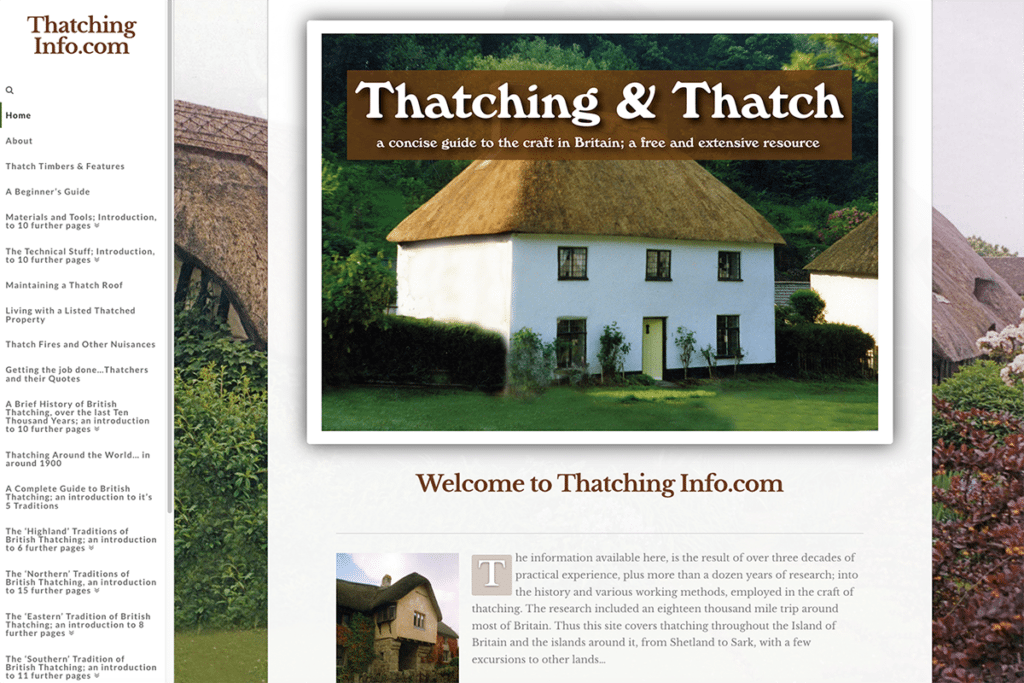 Thatching Info — Web Design Dorset Home