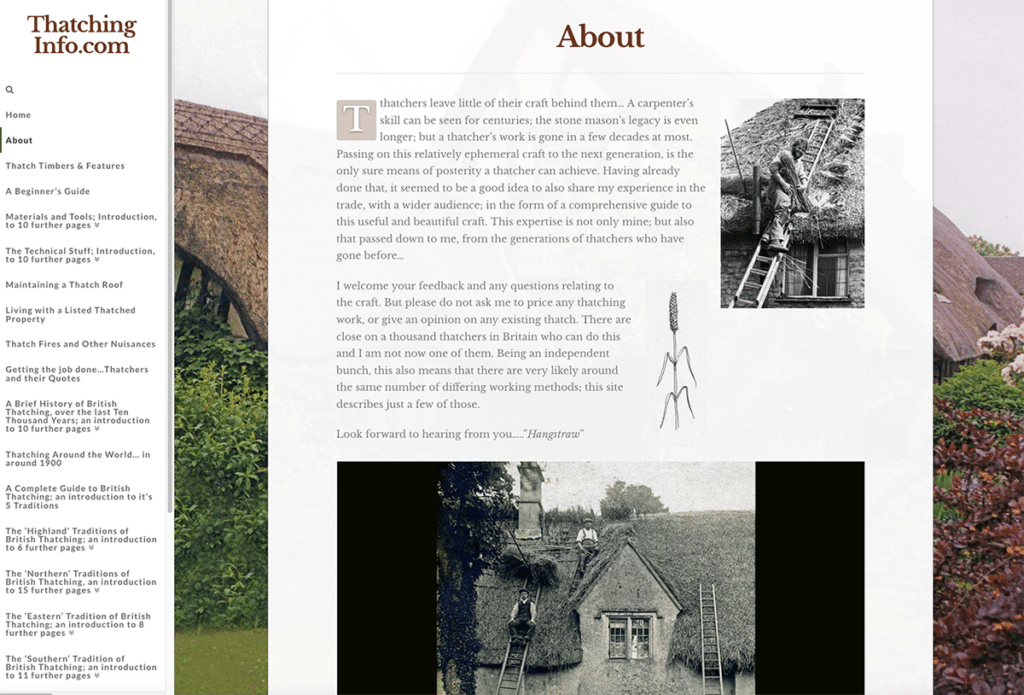Thatching Info — Web Design Dorset About