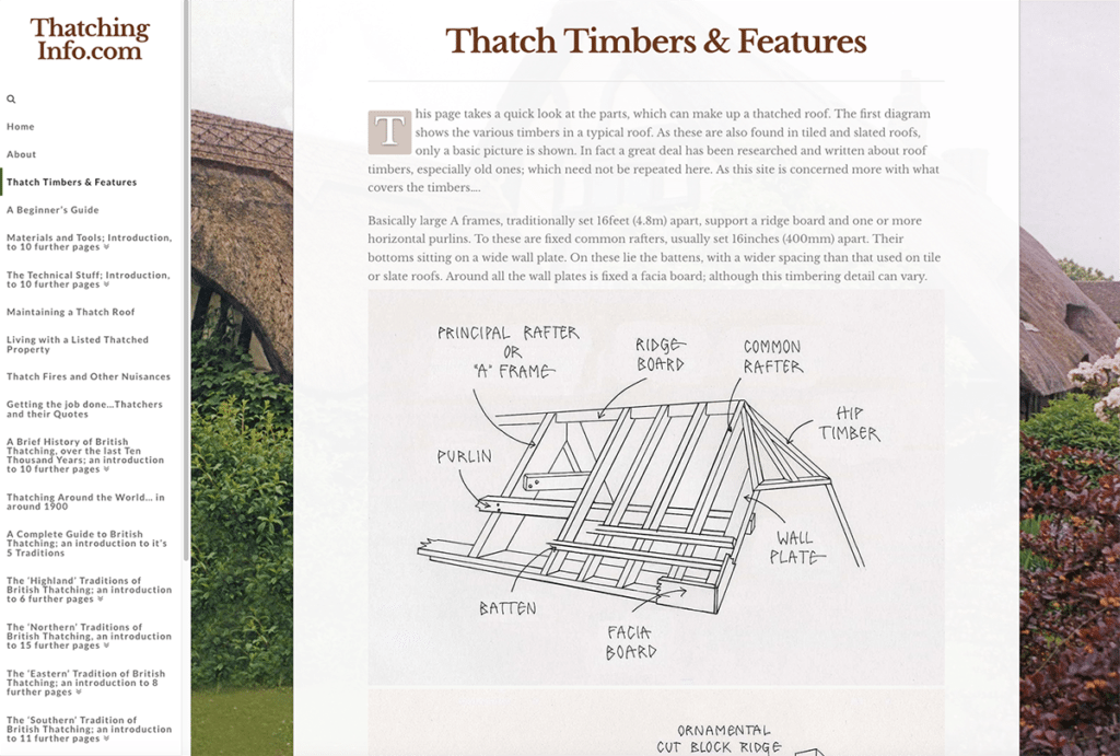 Thatching Info — Web Design Sherborne Diagram