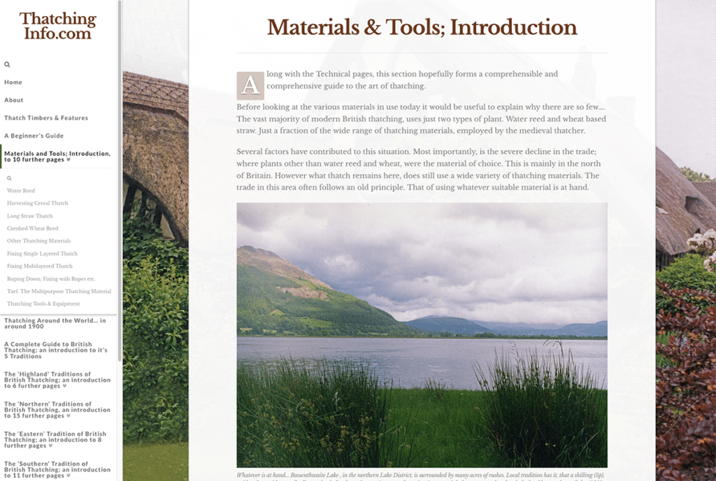 Thatching Info — Web Design Sherborne Materials and Tools