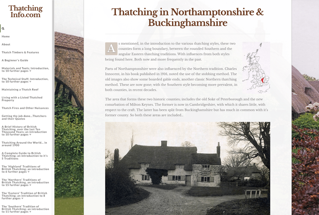 Thatching Info — Web Design Sherborne Thatching Geography
