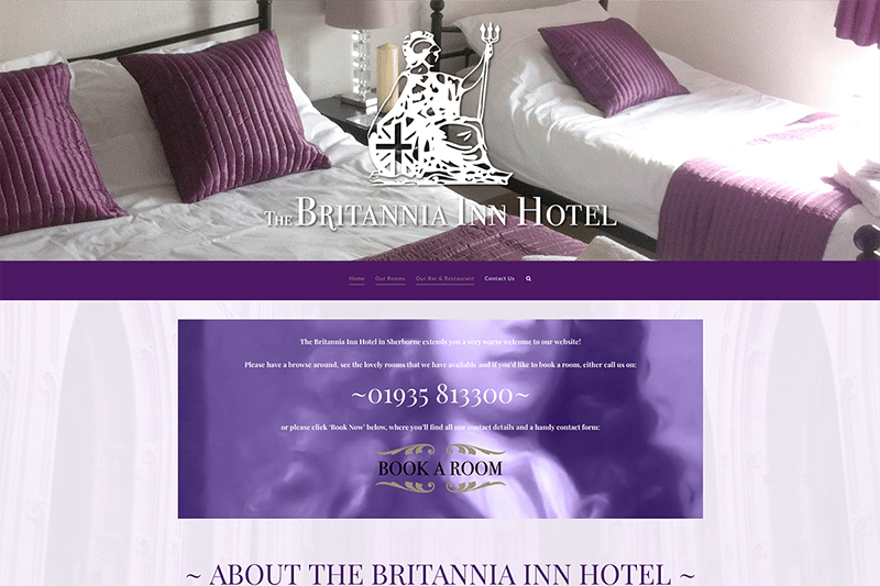 The Britannia Inn Hotel Sherborne — Web Design Dorset