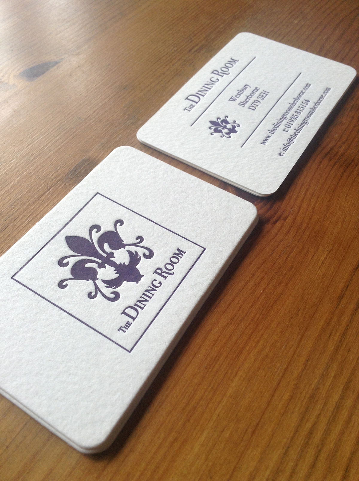 The Dining Room Sherborne Alt View Business Card Design by Digiwool