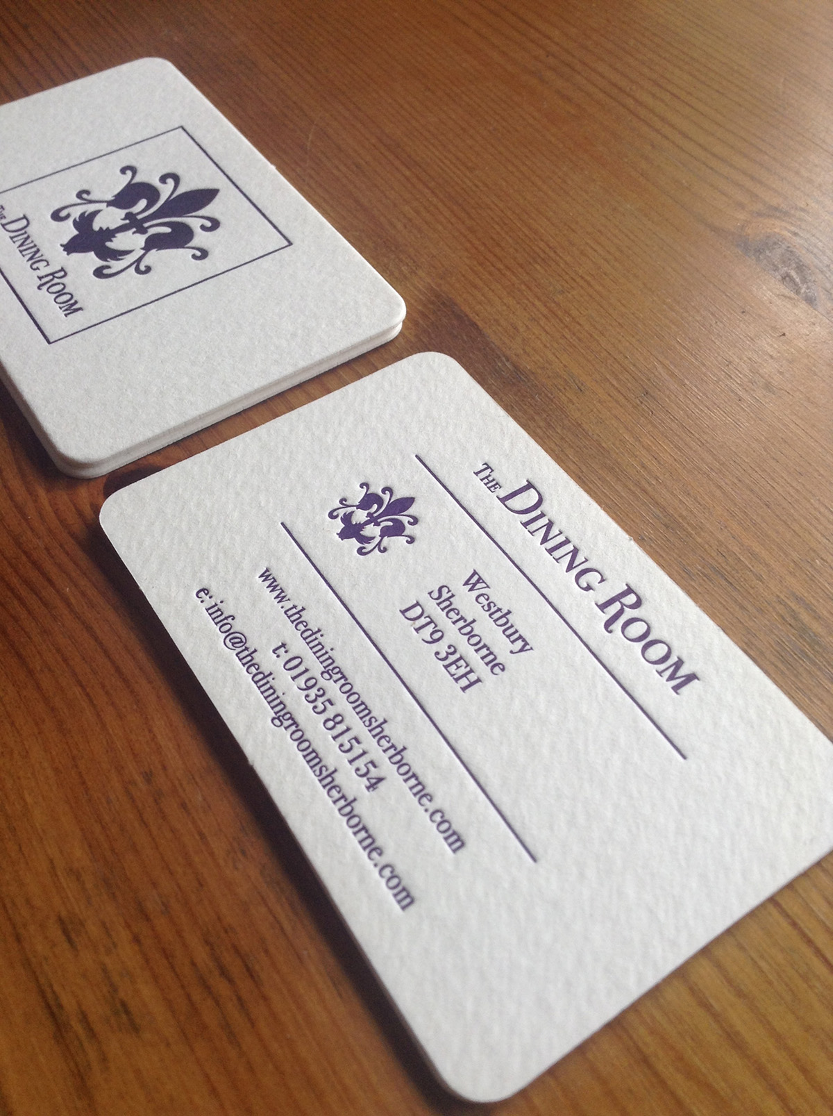 The Dining Room Sherborne Business Card Design by Digiwool