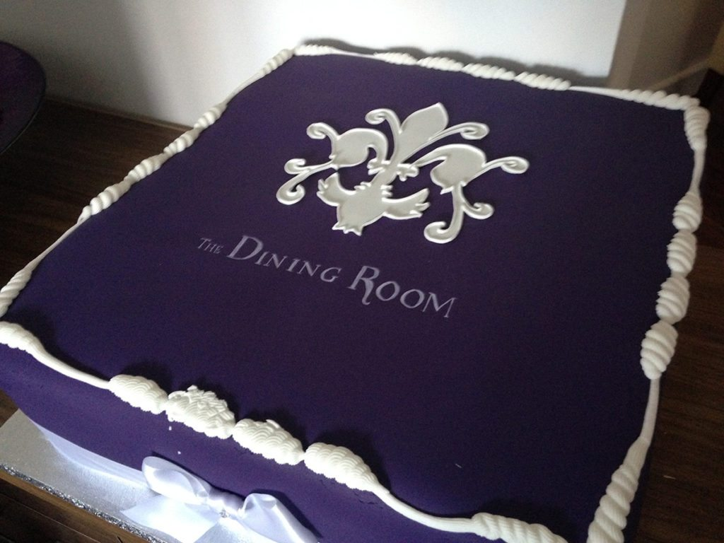 The Dining Room Sherborne Cake Design by Digiwool