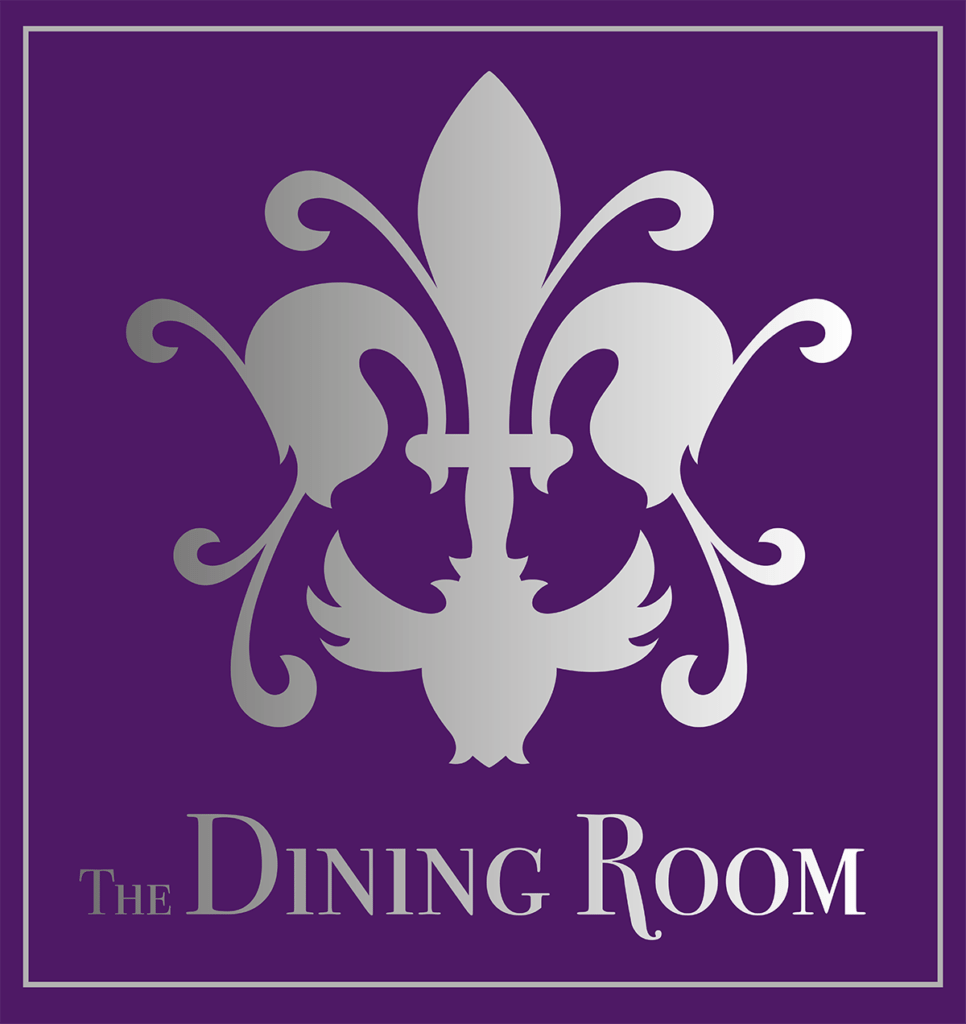 The Dining Room Sherborne Silver on Purple Logo Design by Digiwool
