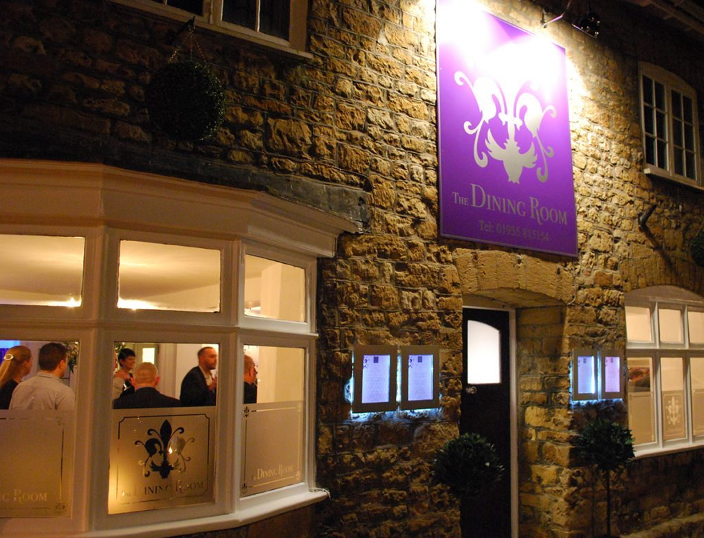 The Dining Room Sherborne Another Angle Exterior Signage Design by Digiwool