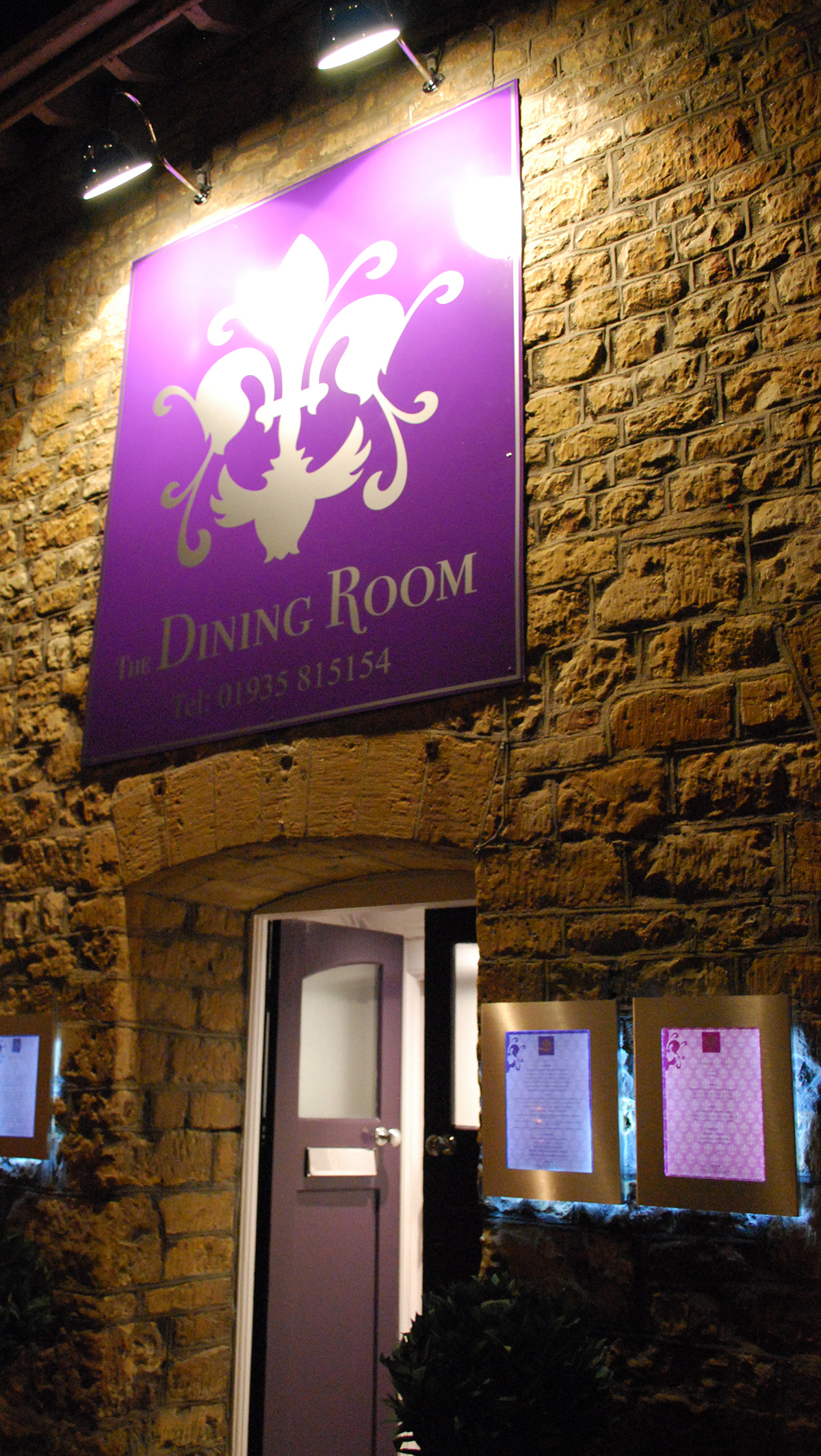 The Dining Room Sherborne Alt Angle Exterior Signage Design by Digiwool