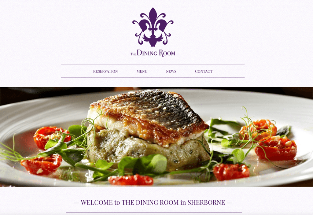 The Dining Room's Logo and Website Design