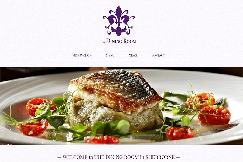 The Dining Room Sherborne Website Design
