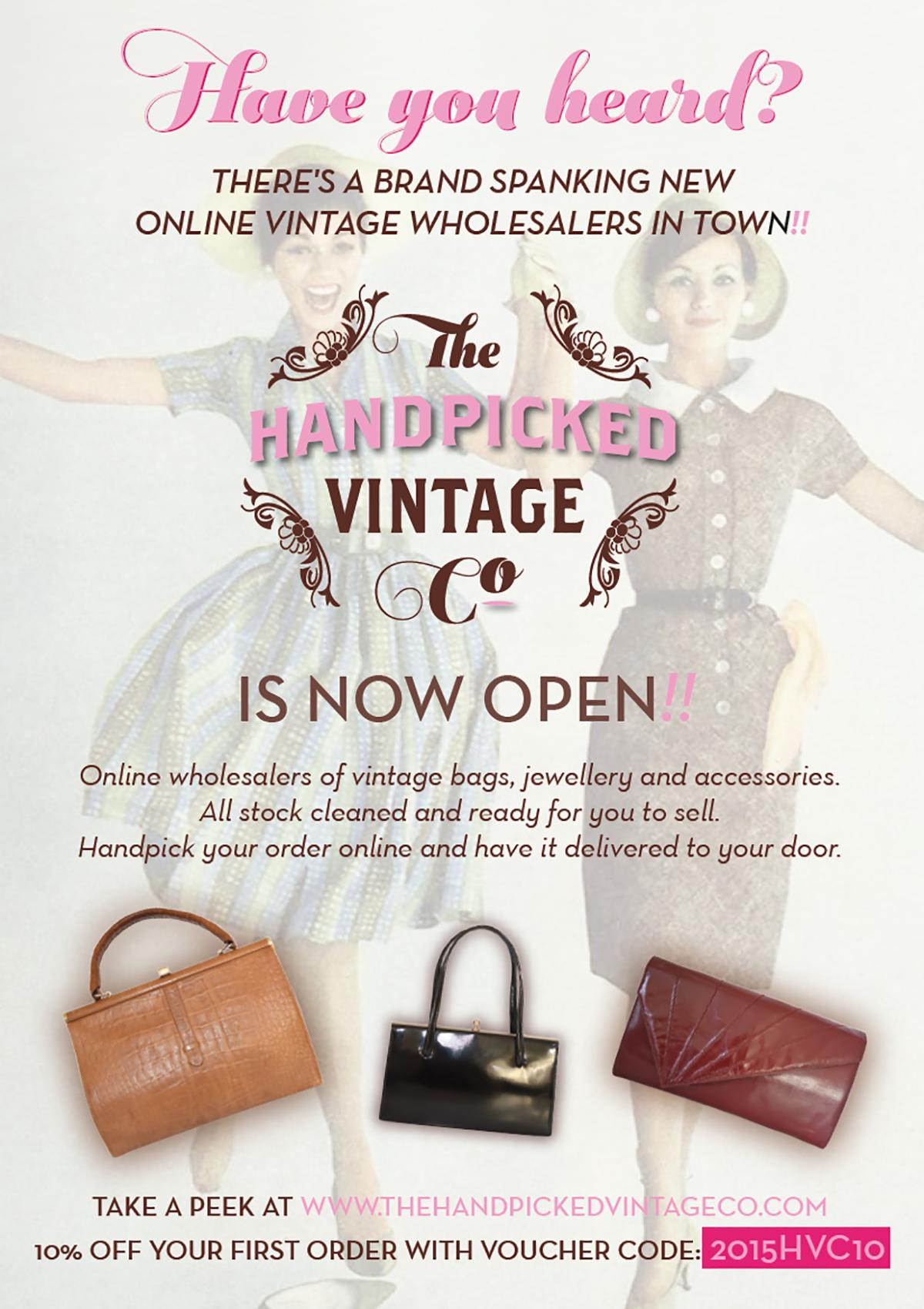The Handpicked Vintage Co eCommerce Web Design Sherborne Flyer