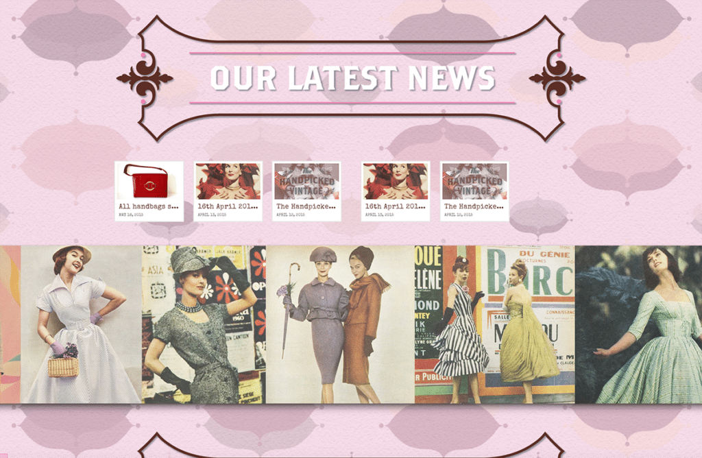 The Handpicked Vintage Co eCommerce Web Design Dorset Latest News