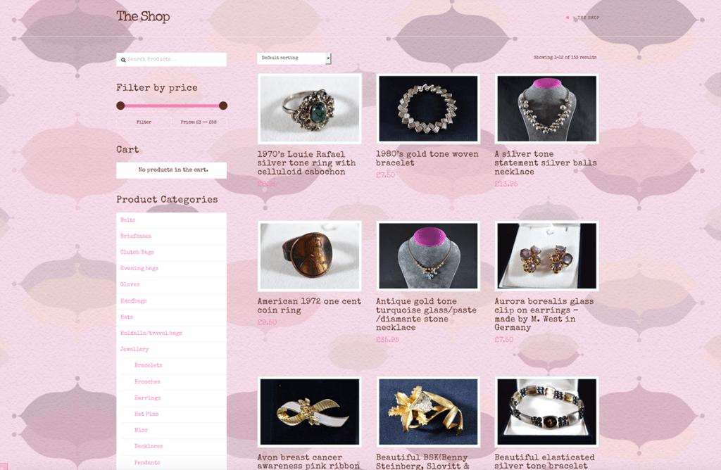 The Handpicked Vintage Co eCommerce Web Design Dorset Shop