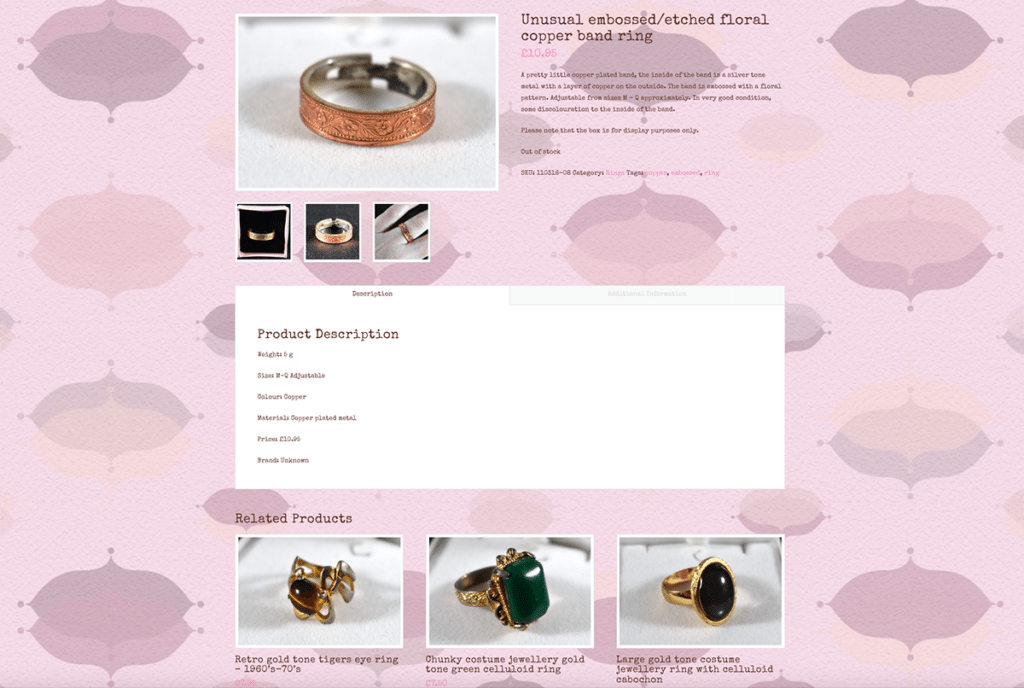 The Handpicked Vintage Co eCommerce Web Design Sherborne Product