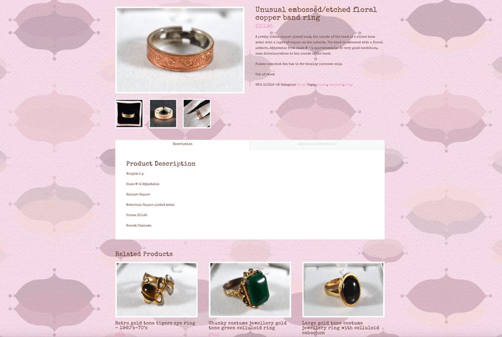 The Handpicked Vintage Co eCommerce Web Design Sherborne Product