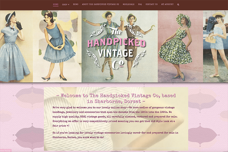 The Handpicked Vintage Co — Dorset e-Commerce Web Design