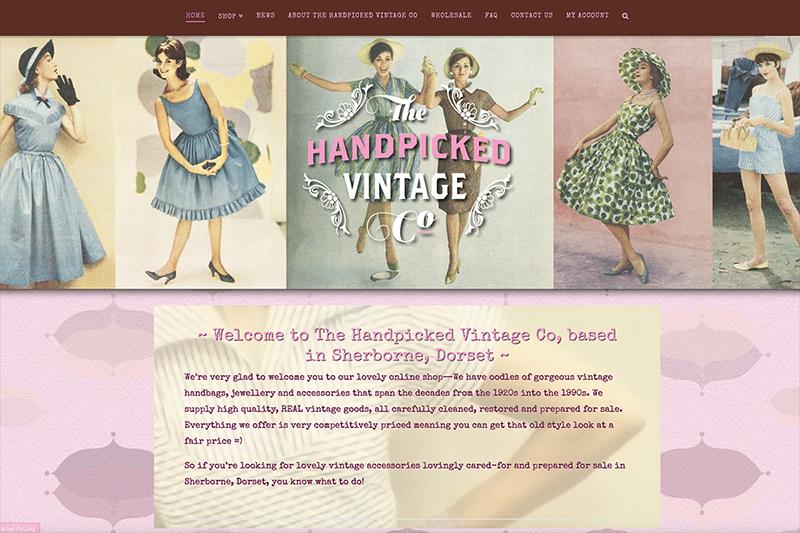 The Handpicked Vintage Co Dorset Website Design