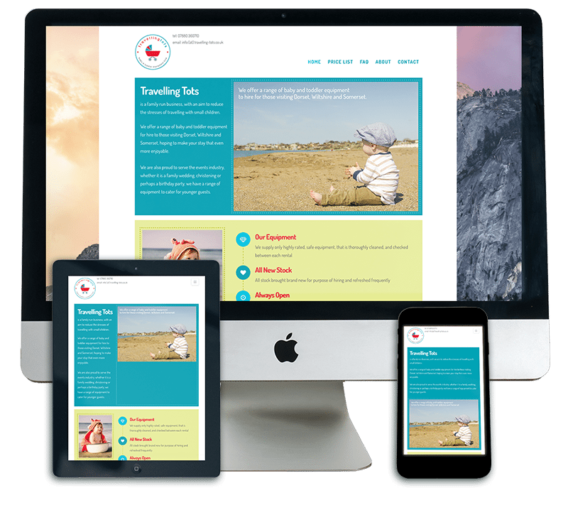 Travelling Tots Responsive Website Design Dorset
