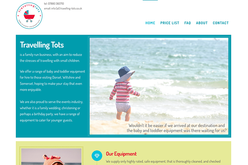 Travelling Tots - Digiwool Web Design Dorset