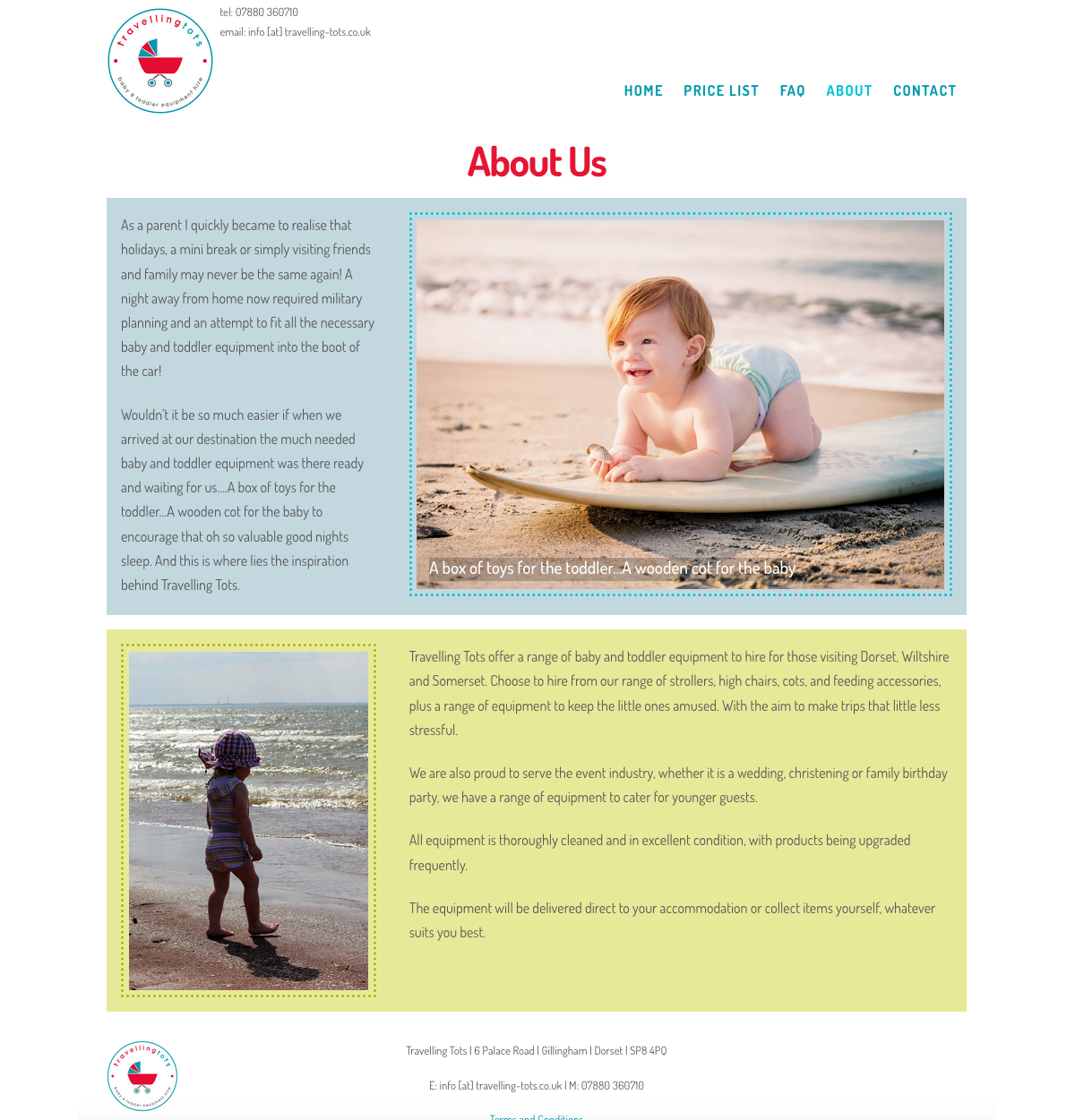 Travelling Tots Web Design Sherborne - About Us
