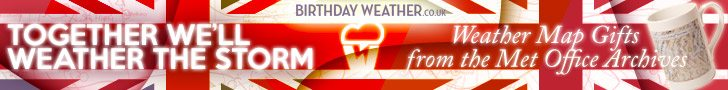 Birthday Weather Advert Design Sherborne