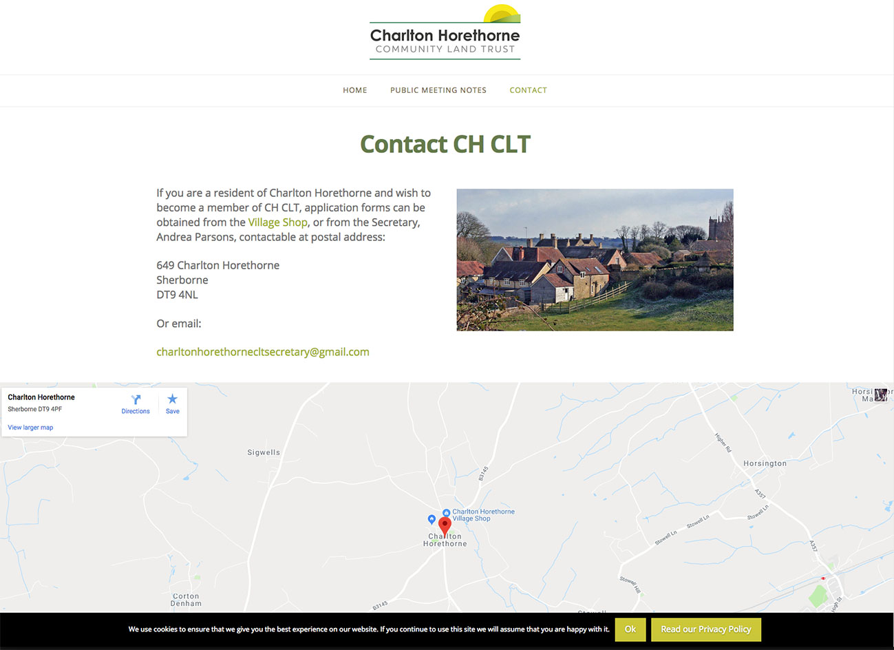 Charlton Horethorne CLT Contact