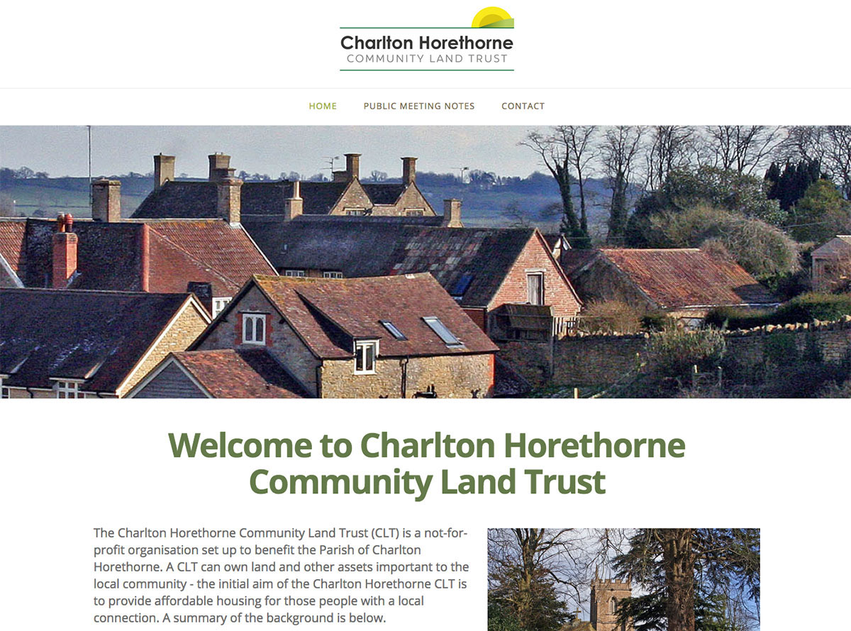 Charlton Horethorne Community Land Trust — Digiwool Web Design Dorset