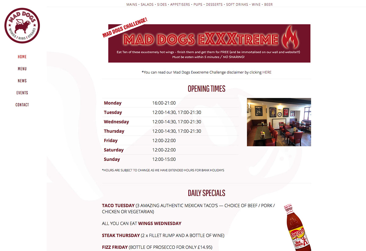 Mad Dogs Website Sherborne