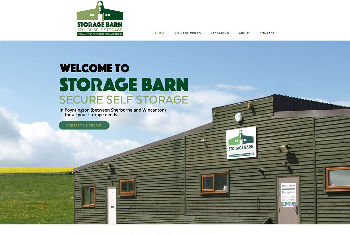 Storage Barn Poyntington — Digiwool Web Design Yeovil