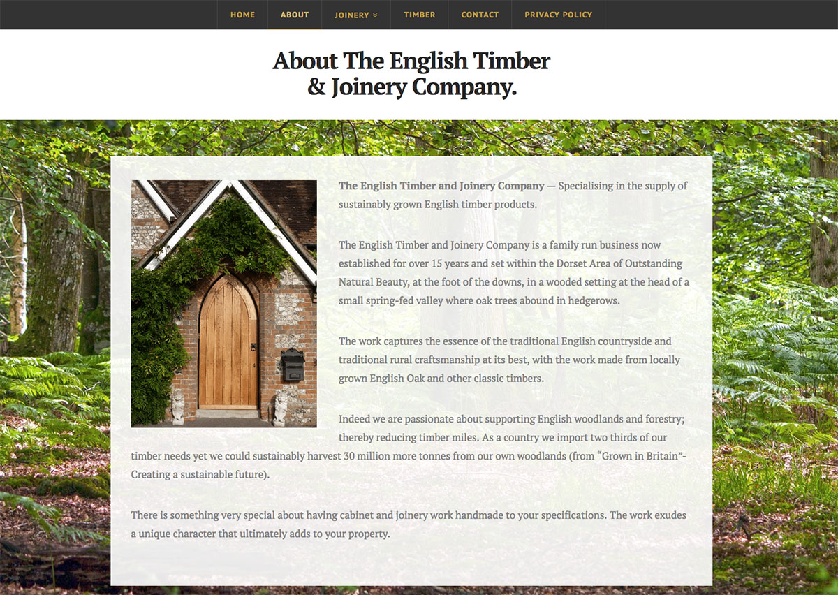 The English Timber and Joinery Company About