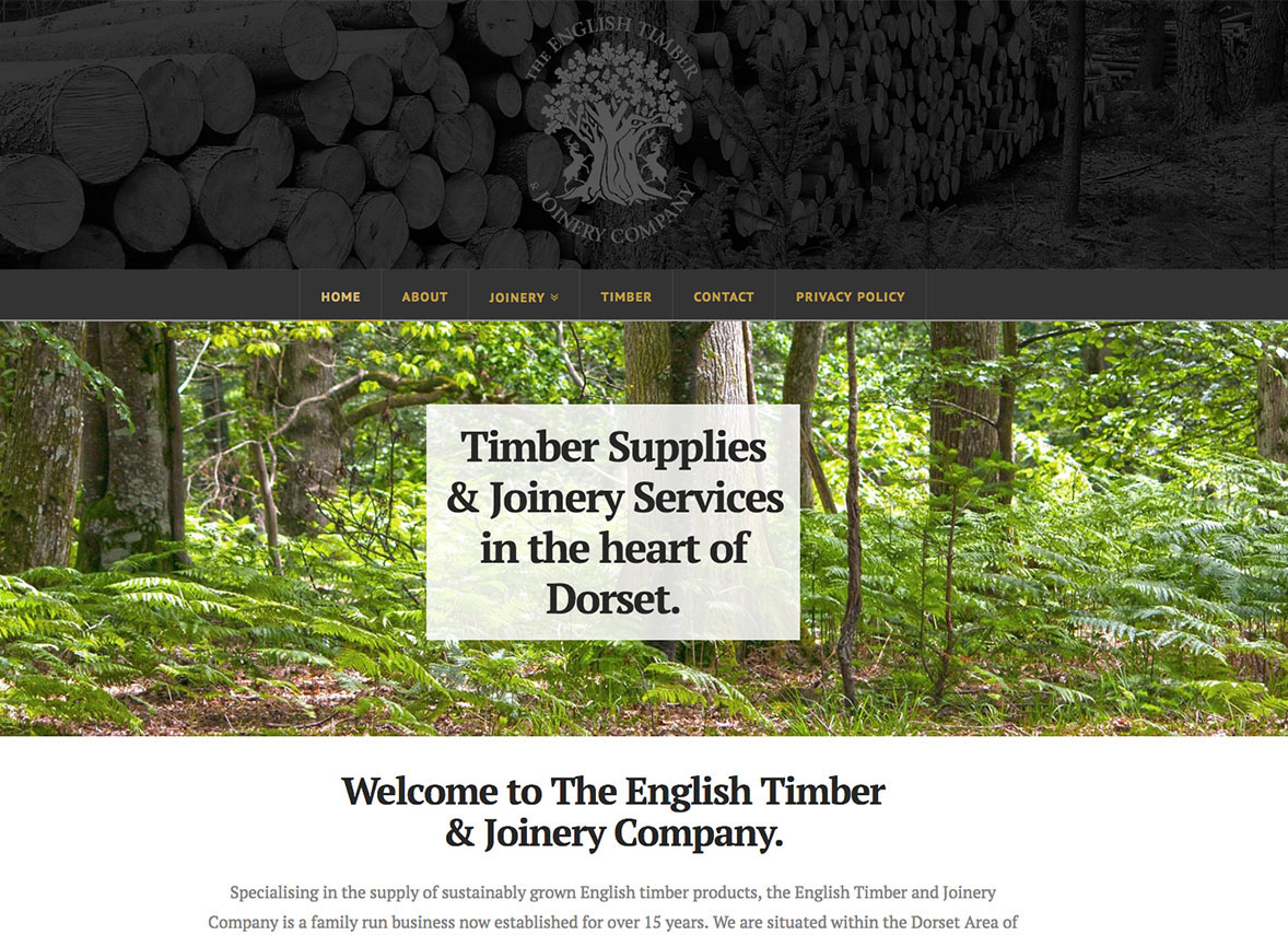 The English Timber & Joinery Company - Digiwool Website Design Sherborne
