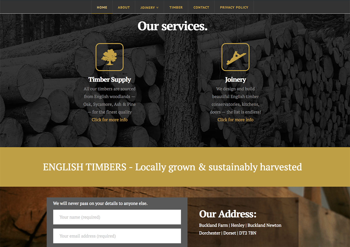 The English Timber and Joinery Company Website 3