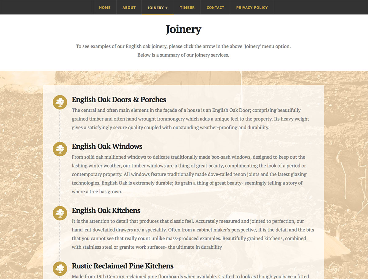 The English Timber and Joinery Company Website Joinery