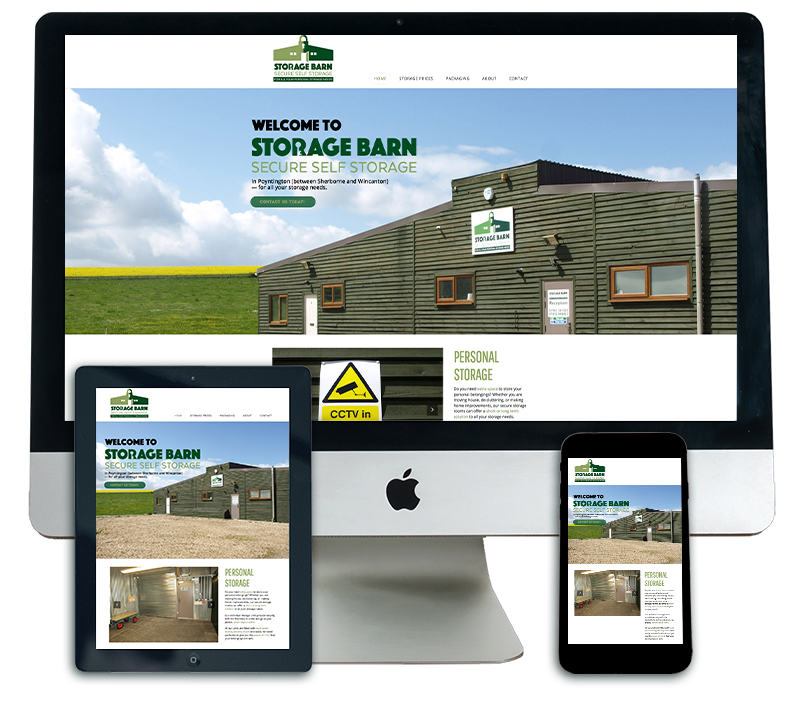 The Storage Barn Website